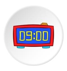 Digital alarm clock icon cartoon style vector image vector image