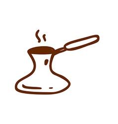 Hand Drawn Turkish Coffee Pot vector image