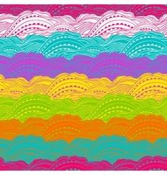 Pattern Color Waves Big vector image vector image