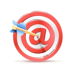 Red darts target aim and arrow Successful shoot vector image