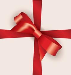 bow and ribbon vector image vector image