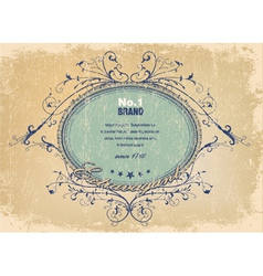 elegant label with grunge background vector image vector image
