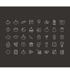 Food outline icon vector image vector image