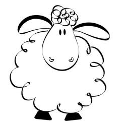 funny sheep drawing vector image