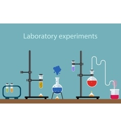 laboratory experiment vector image vector image