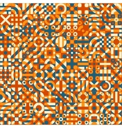 Seamless Irregular Geometric Blocks Quilt vector image