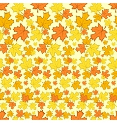 Seamless pattern with colorful autumn leaves vector image vector image