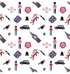 Uk seamless pattern vector