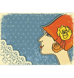 vintage woman background vector image vector image