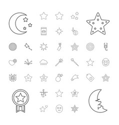 37 star icons vector image
