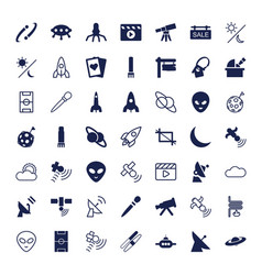 49 space icons vector