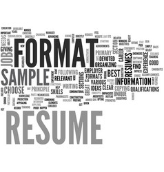 a resume sample will give you a clear idea of vector image