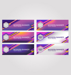 abstract banner bright neon color vector image