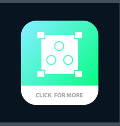 Abstract design online mobile app button android vector