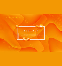 abstract orange yellow background vector image