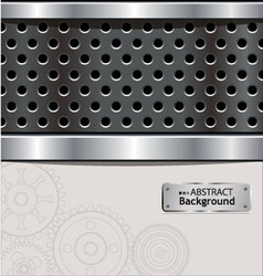 abstract perforated background vector image