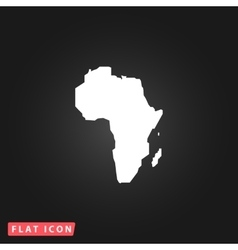 Africa Map - icon isolated vector image