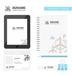 air turbine business logo tab app diary pvc vector image