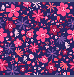amazing floral seamless pattern flowers vector image