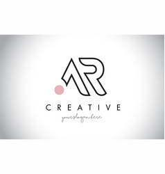 Ar letter logo design with creative modern trendy vector