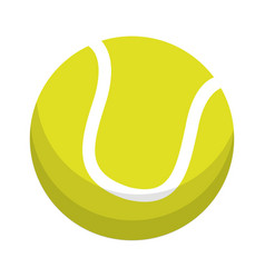Ball tennis sport equipment vector