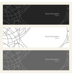 Banners with Geometric Pattern of Curves vector
