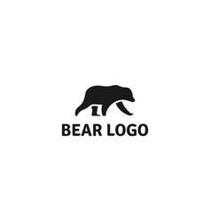 bear silhouette logo design vector image