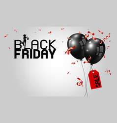 black friday banner design vector image