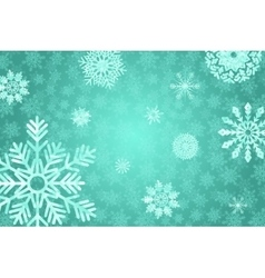 Blue winter background with crystallic snowflakes vector