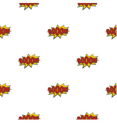 Boom explosion pattern seamless vector
