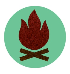 campfire flat icon vector image