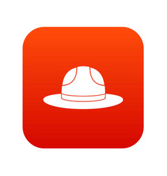 Canadian hat icon digital red vector