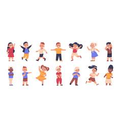 cartoon children cute multicultural boys vector image
