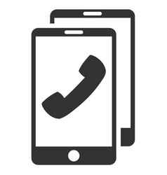 Cell phones flat icon vector