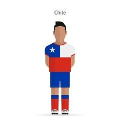 Chile football player Soccer uniform vector