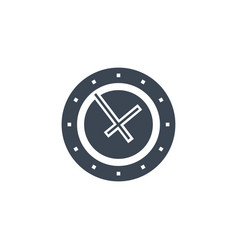 clock related glyph icon vector image