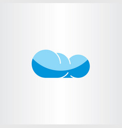Cloud icon sign element symbol vector