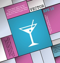 Cocktail martini alcohol drink icon sign modern vector