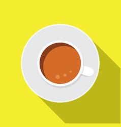 coffe flat icon vector image