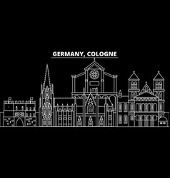 Cologne silhouette skyline germany - cologne vector
