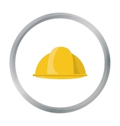 Construction helmet icon in cartoon style isolated vector