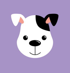 cute dog white and black puppy vector image