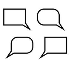 dialogue signs set black color vector image