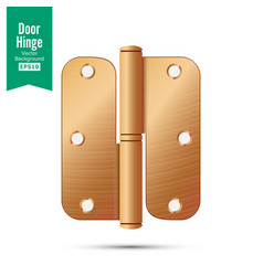 door hinge classic and industrial vector image