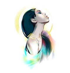 Egyptian goddess portrait of a girl vector