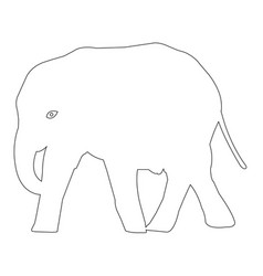 Elephant outline icon eps vector