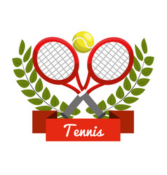 Emblem tennis play icon vector