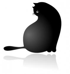 fat cat sitting vector image