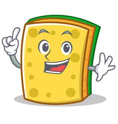 Finger sponge cartoon character funny vector