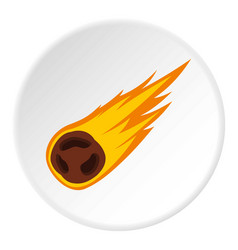Flame meteorite icon circle vector